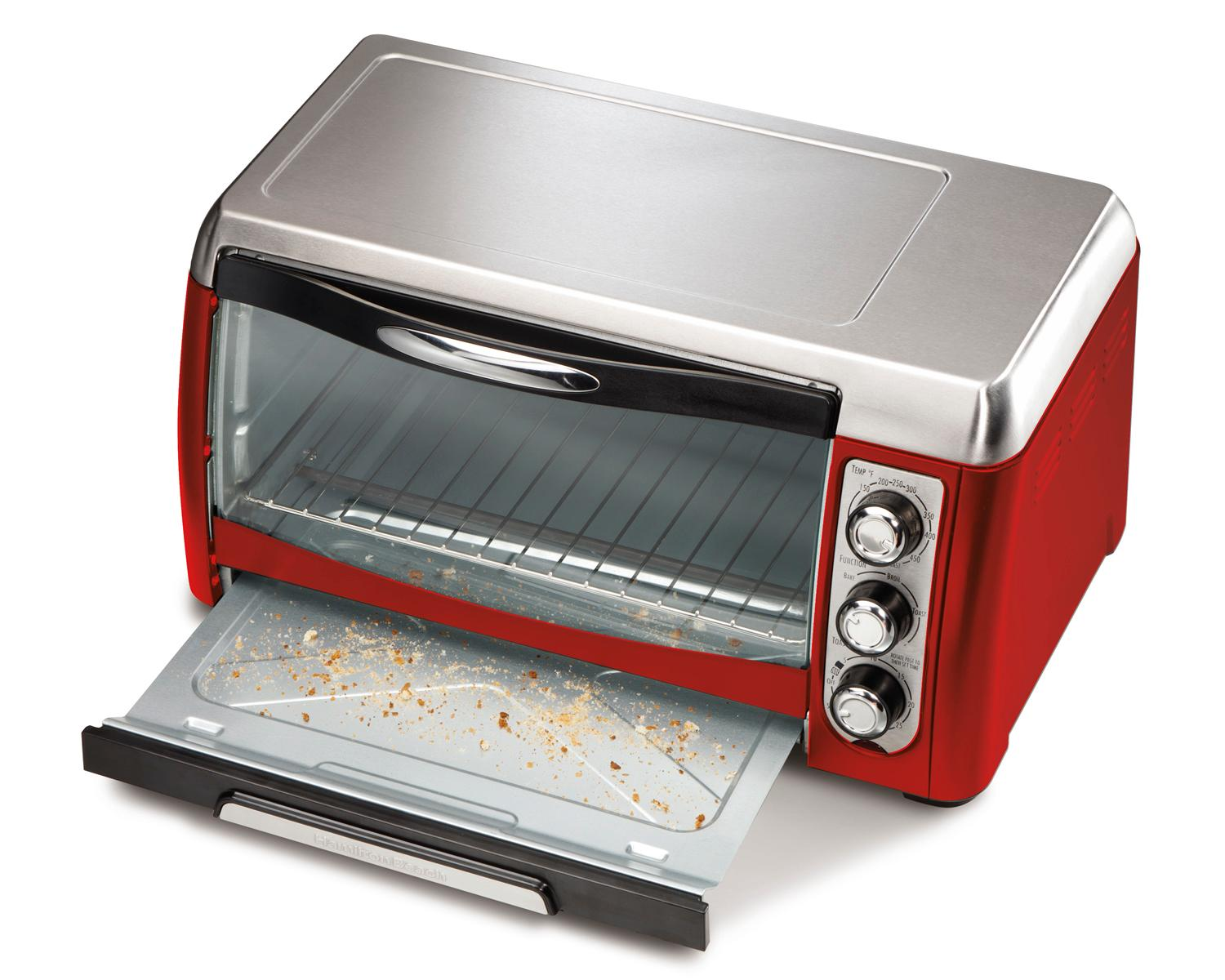 Countertop Oven Red : ... Beach 31335 Ensemble 6-Slice Toaster Oven, Red: Kitchen & Dining