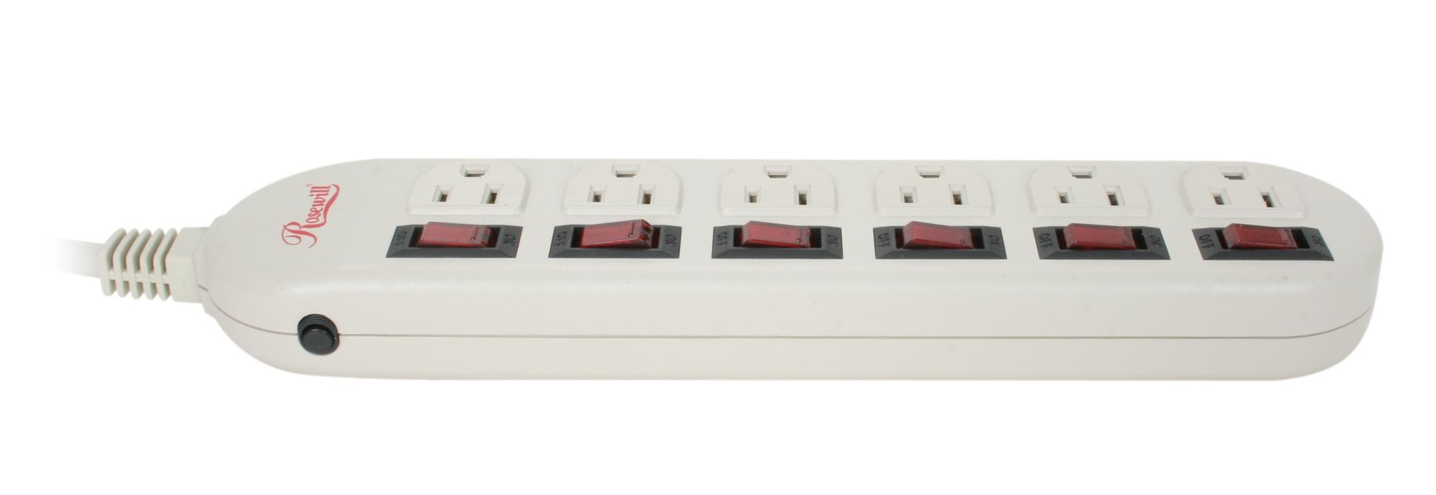 Multiple outlet strips
