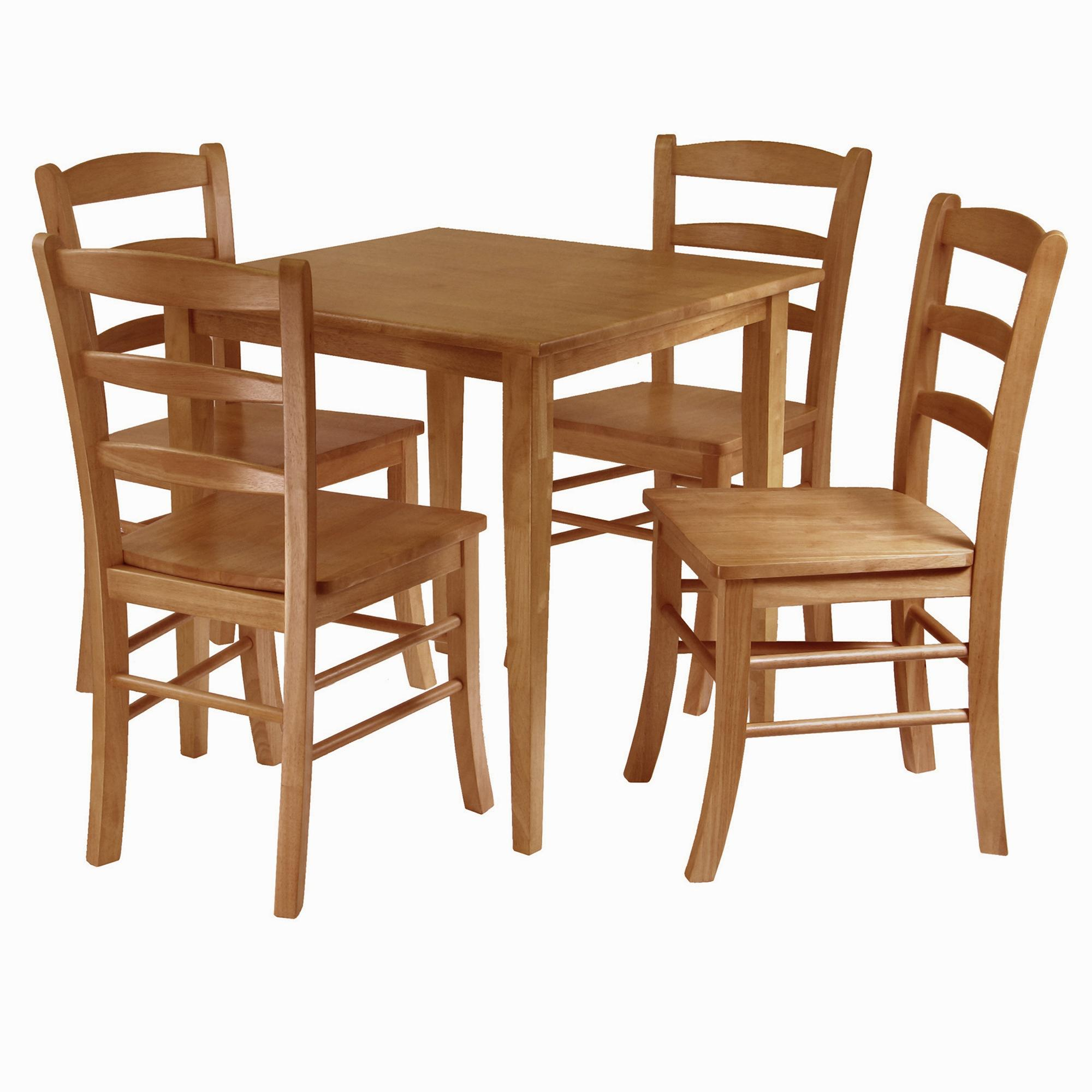 Oak Table And Chairs For Kitchen Amazon winsome groveland 5 piece wood dining set light oak view larger workwithnaturefo
