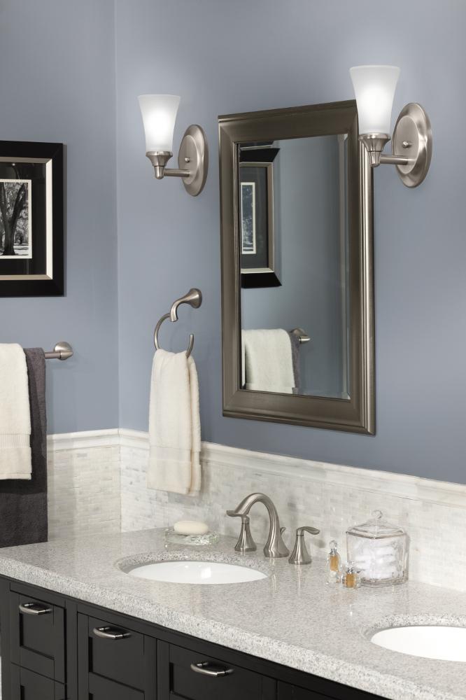 Moen Yb2886bn Eva Bathroom Towel Ring Brushed Nickel