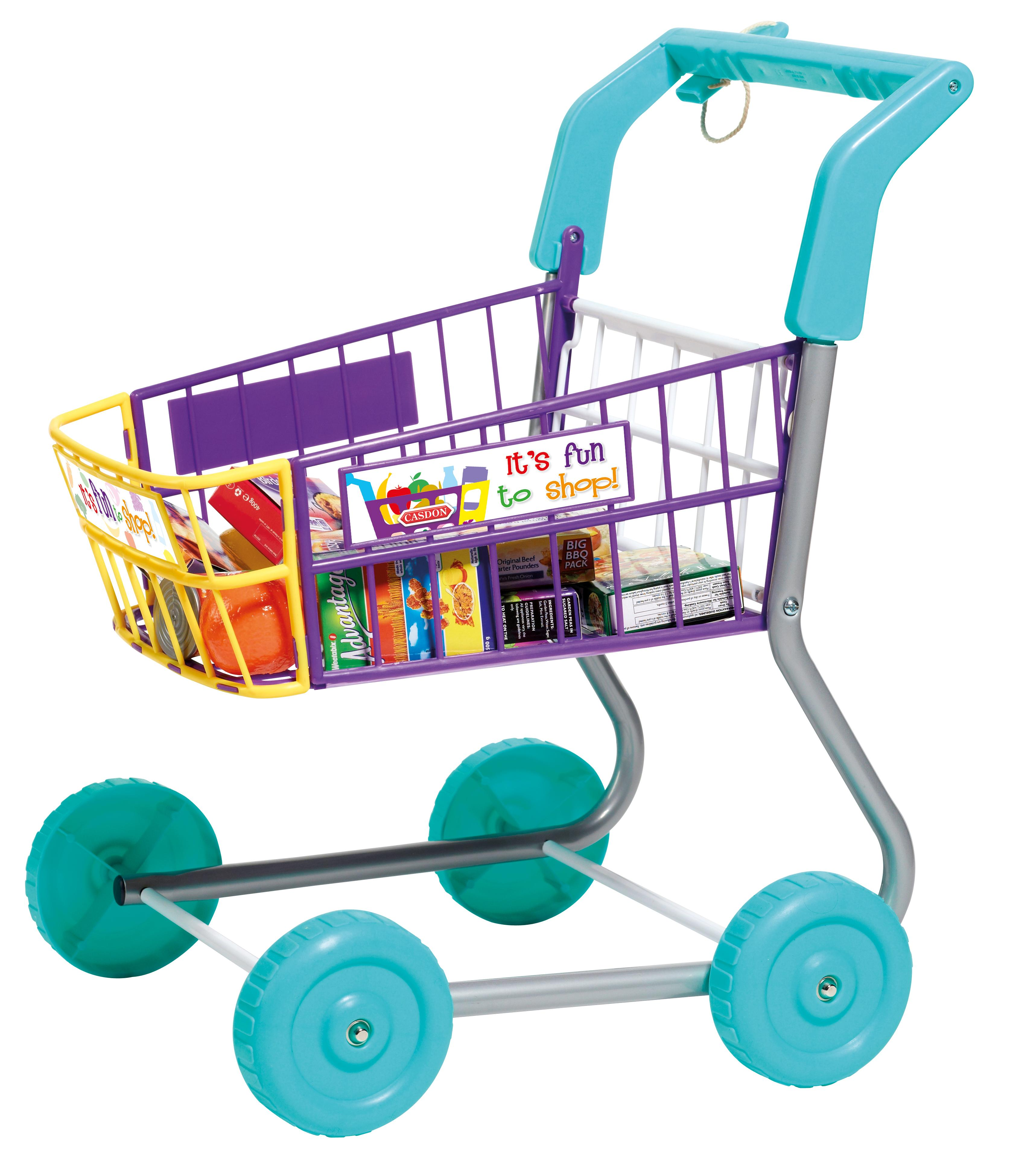 toy grocery shopping cart trolley includes play food toys games. Black Bedroom Furniture Sets. Home Design Ideas