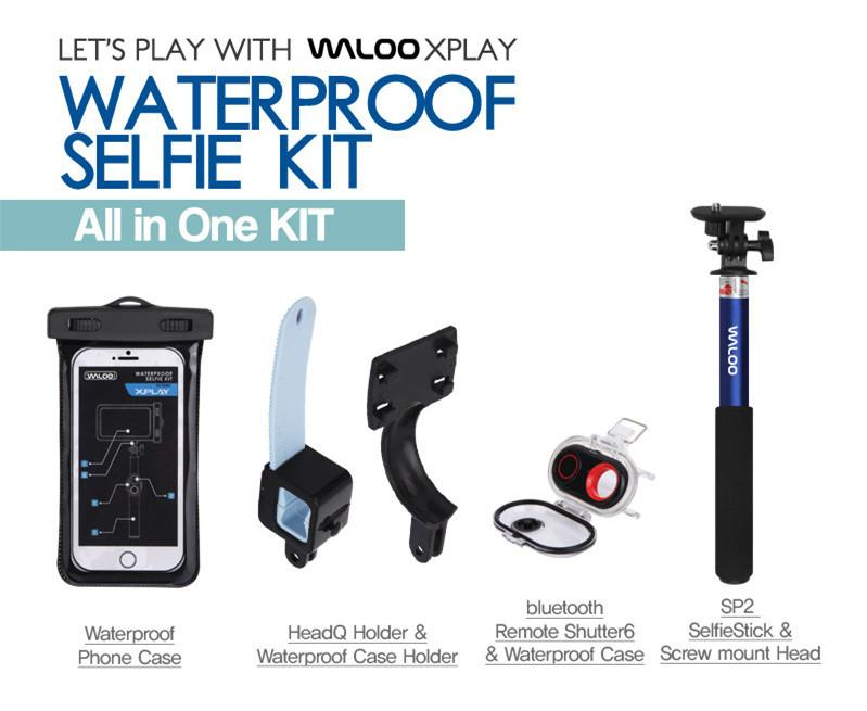 waloo waterproof universal extendable monopod selfie stick smartphone pouch with. Black Bedroom Furniture Sets. Home Design Ideas