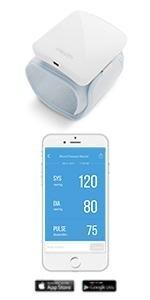wireless blood pressure monitor, bluetooth blood pressure monitor, wrist blood pressure monitor
