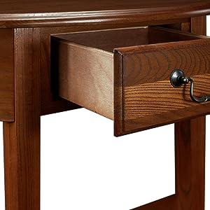 Amazoncom Leick Demilune Hall Console Table Medium Oak Kitchen