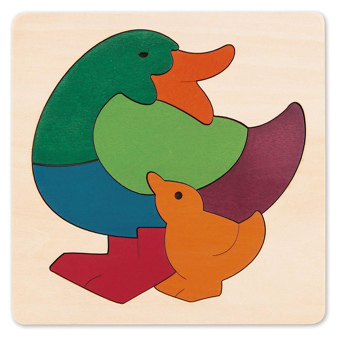Amazon Com Hape George Luck Rainbow Fish Wood Puzzle 8