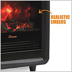 Amazon Com Crane Usa Mini Fireplace Heater Orange Home