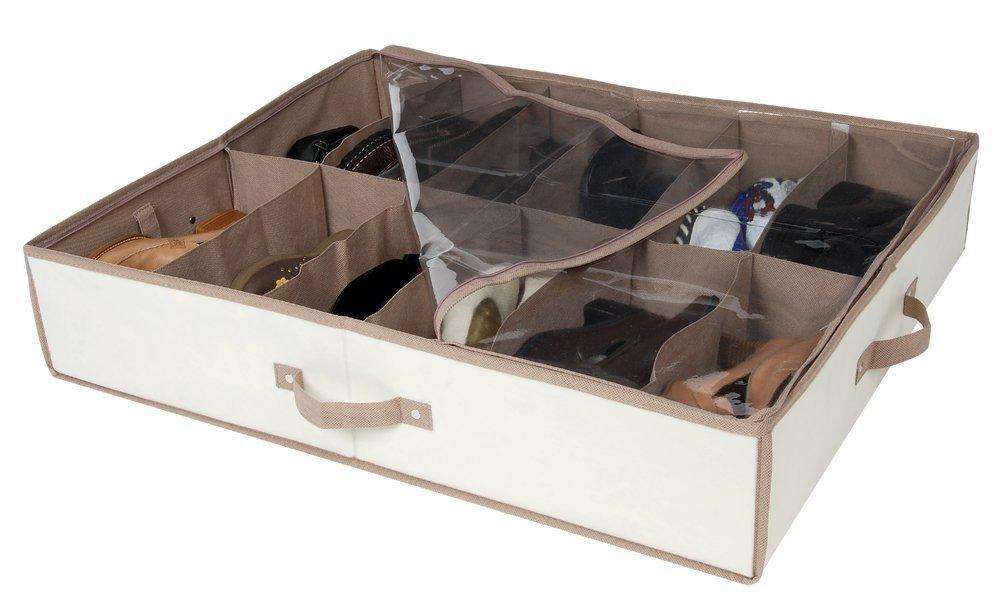 Pro Mart Dazz Underbed Shoe Organizer Beige
