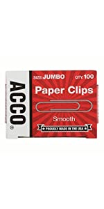 Paper Clips, jumbo, ACCO Brands, ACCO