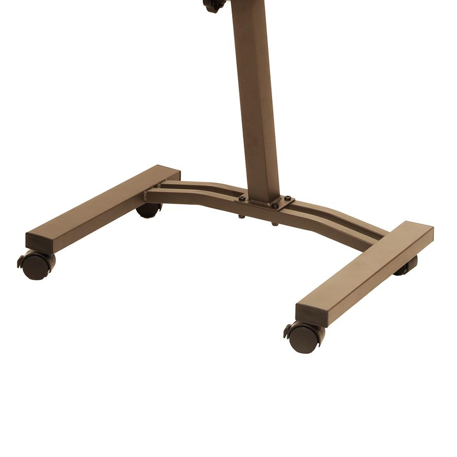 Rolling Laptop Desk Cart Stand Lift Adjustable Angle