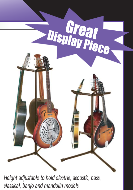 on stage gs7355 hang it triple guitar stand musical instruments. Black Bedroom Furniture Sets. Home Design Ideas