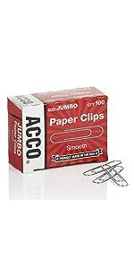 Paper Clips, jumbo, ACCO Brands, ACCO