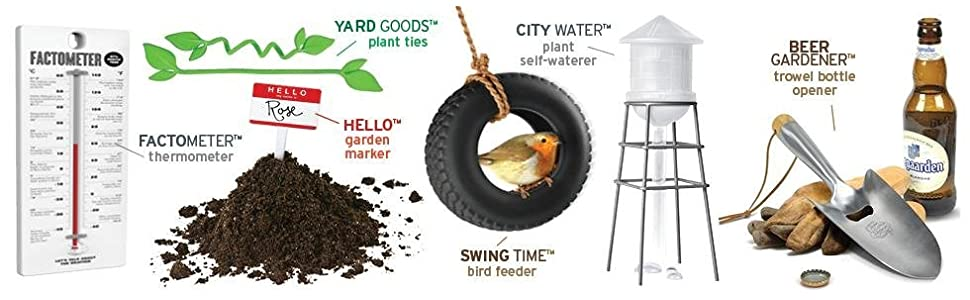 fred and friends, yard tools, shovel, garden, garden tools, bird feeder, plant ties