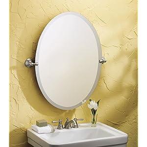 Moen Sage Bathroom Oval Tilting Mirror   Quick And Easy Installation