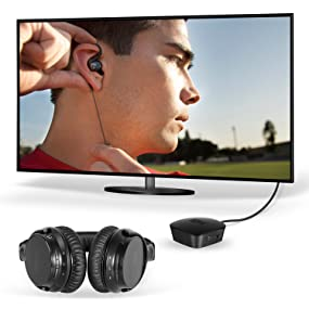 mee audio connect bluetooth wireless headphone system for tv refurbished ebay. Black Bedroom Furniture Sets. Home Design Ideas