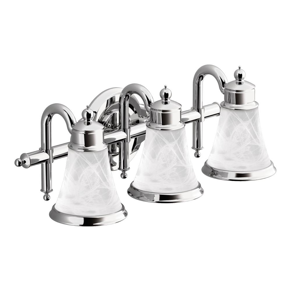Amazon Bathroom Light Fixtures: Moen YB9863CH Waterhill Three Globe Bath Light, Chrome