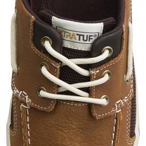 XTRATUF Finatic II Men's Leather Deck Shoes, secure fitting boat shoes, secure fitting deck shoes