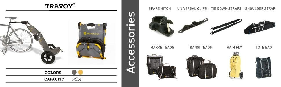 Travoy Accessories, sold separately