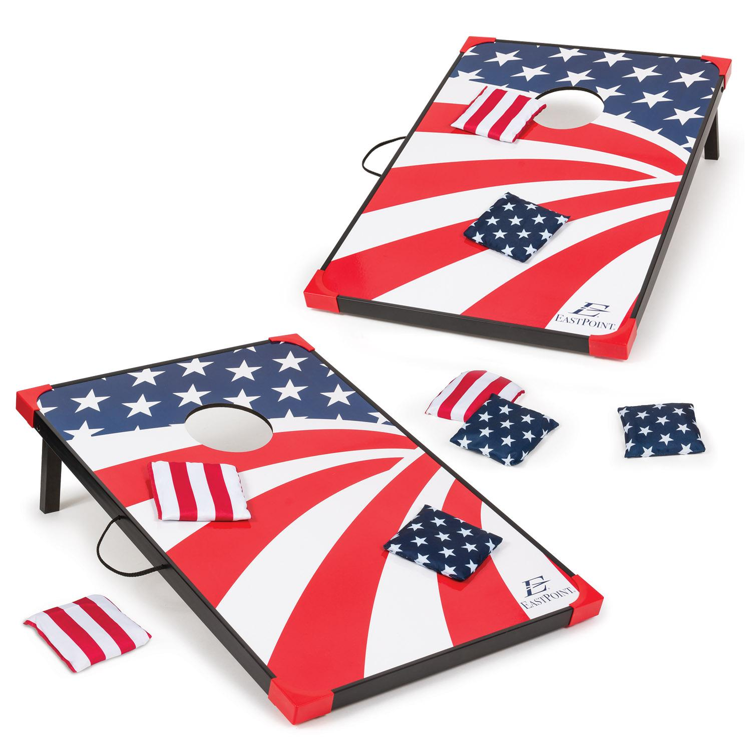 Amazon.com : EastPoint Sports Stars and Stripes Bean Bag Toss Set