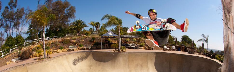elliot sloan bucky bowl frontside heel flip skateboarding helmet