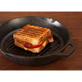 grill pan, ridged skillet, round frying pan