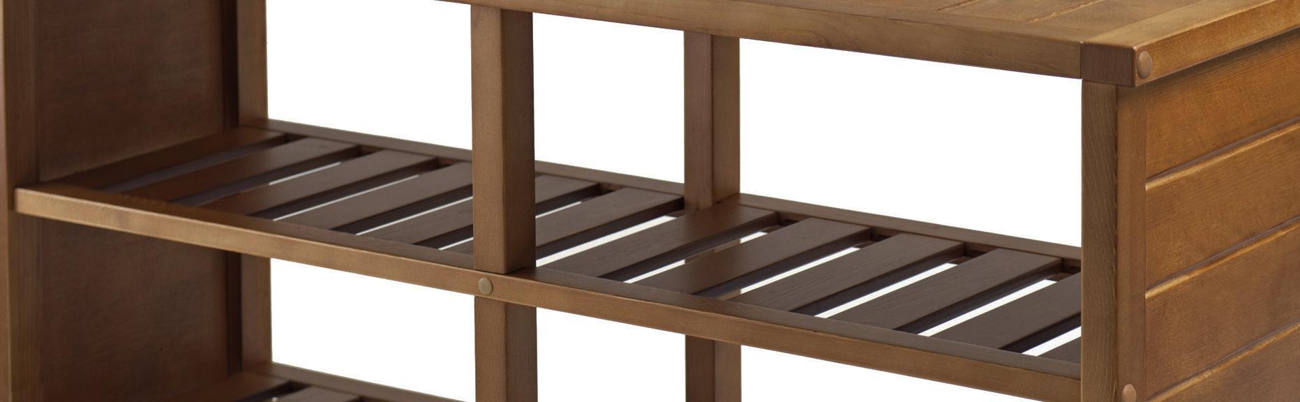 Winsome Keystone Shoe Storage Bench Teak