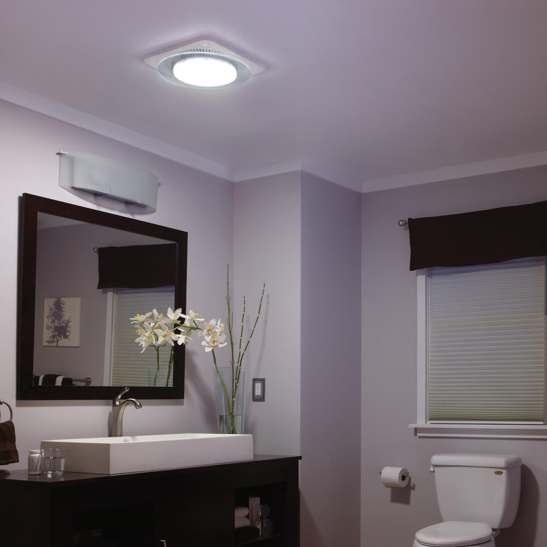 Bathroom exhaust fan with night light - Nutone Lunaura Qtnleda Fan Light Nightlight Ventilation Fan 110 Cfm