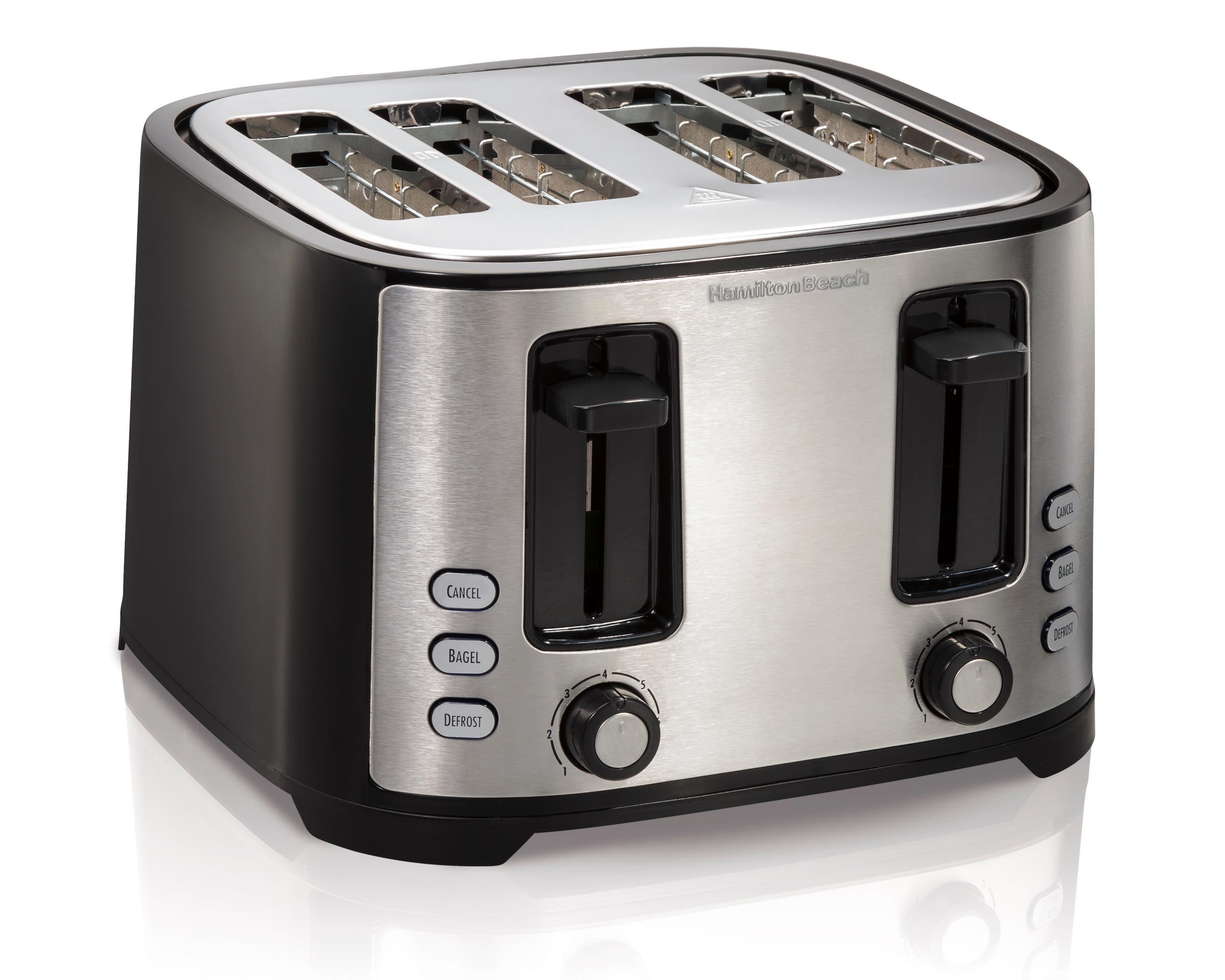 lift toaster with slice slot black lever pin kitchenaid long high