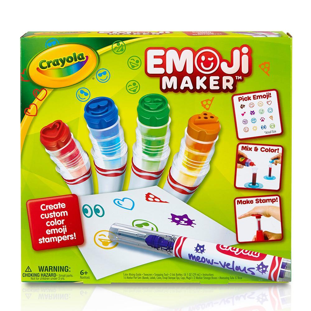 Crayola Emoji Maker, Marker Stamper Maker, Art Activity and Art Tool