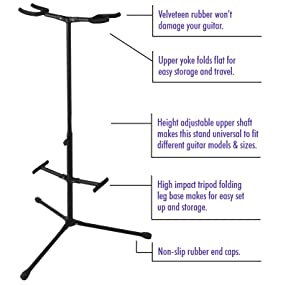 on stage gs7255 double hang it guitar stand musical instruments. Black Bedroom Furniture Sets. Home Design Ideas
