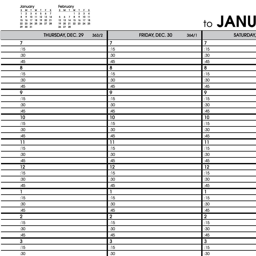 At a glance weekly planner 2015 wirebound 6 for Saturday to friday calendar template