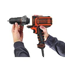 BLACK+DECKER Electric Drill, 3/8-Inch, 4-Amp (BDEDMT