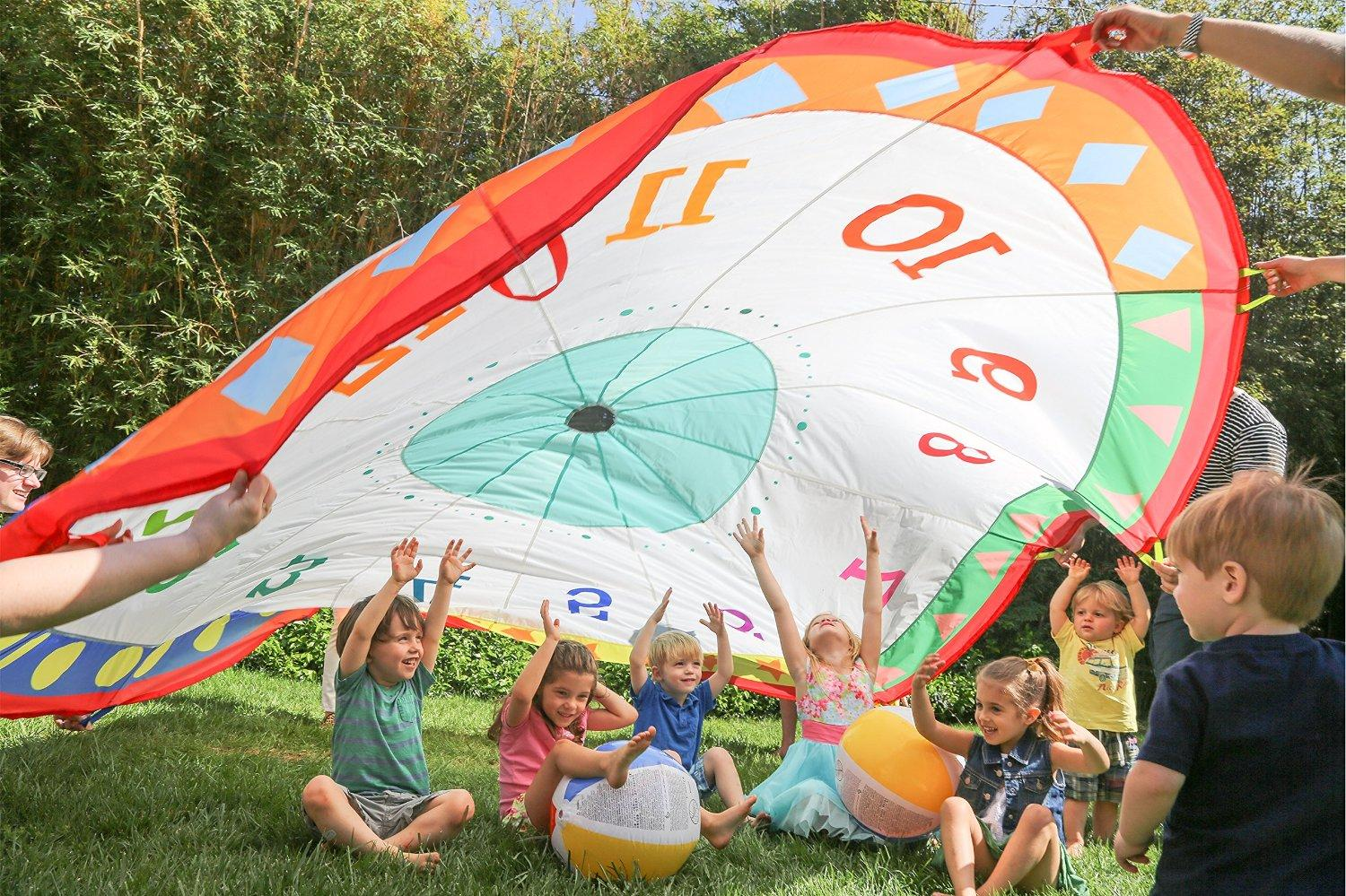 From the manufacturer. parachute kids play & Amazon.com: Pacific Play Tents Tick Tock Clock 12 Foot Kids ...