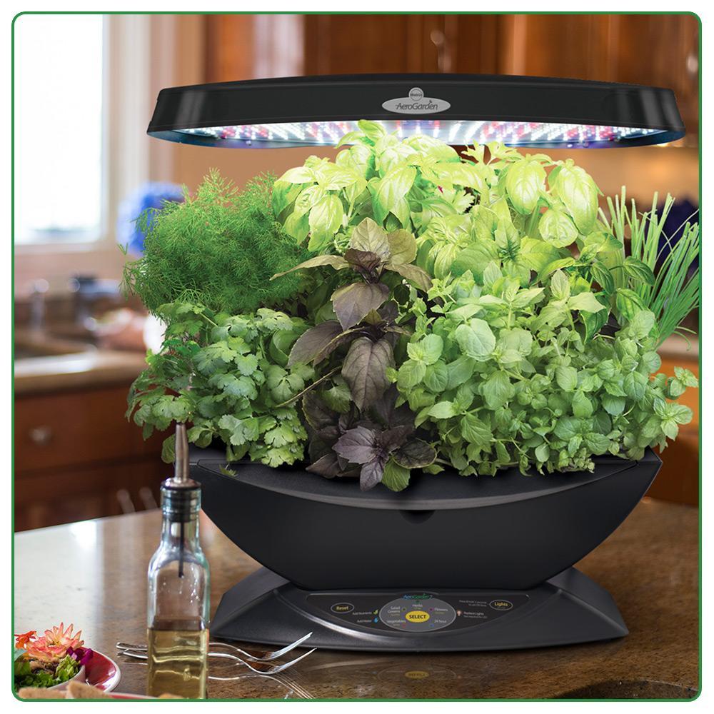 Aerogarden 7 led indoor garden with gourmet for Indoor gardening amazon