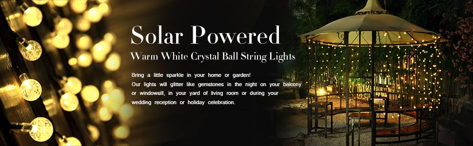 Solar String Lights Christmas String Lights Outdoor String Lights Ball String Lights