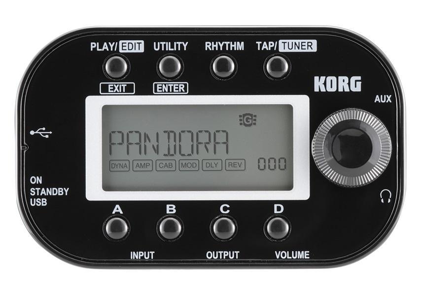 [DISCONTINUED] Korg Pandora PXMINIBK Mini Personal Multi Effects Processor,  Black