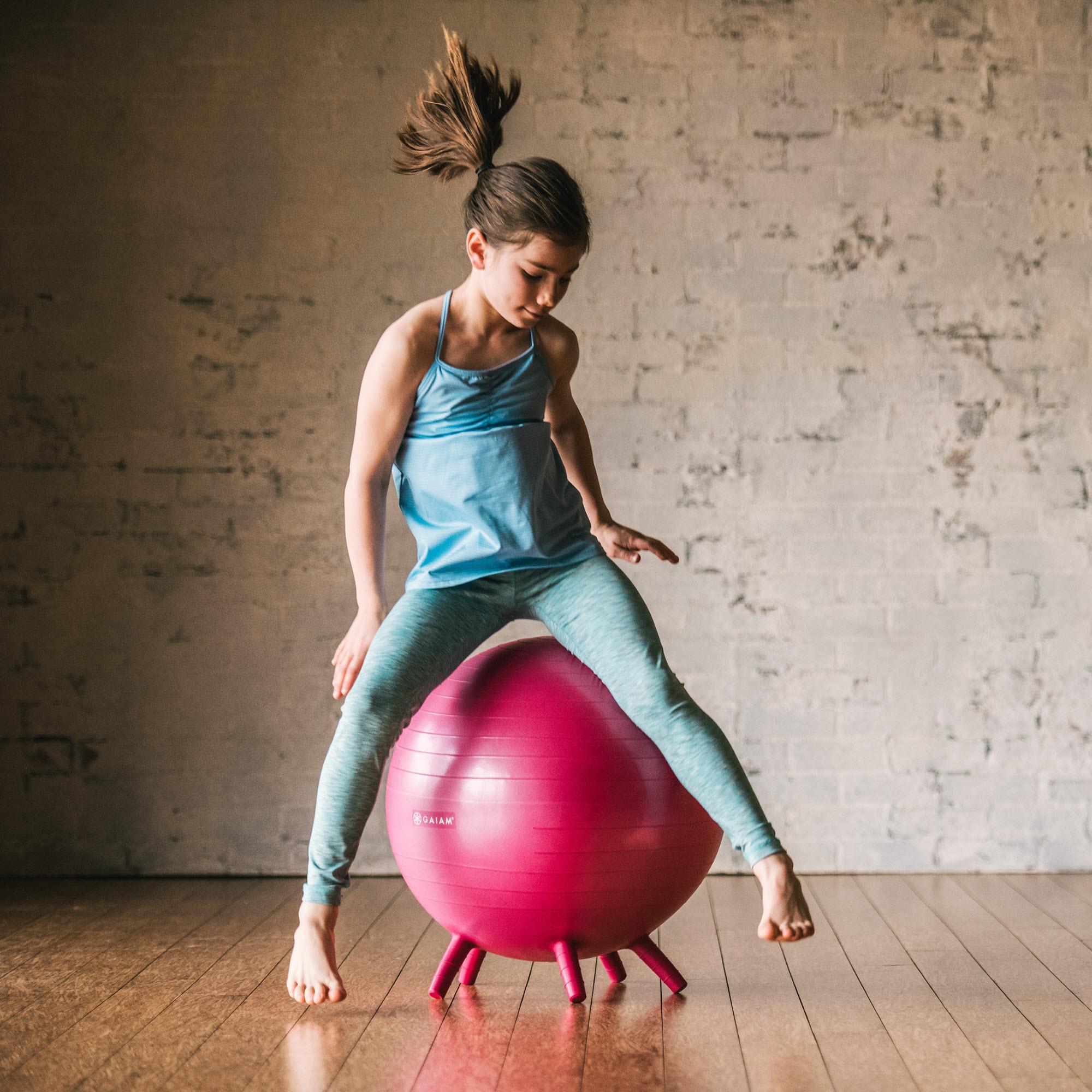Balance Ball Legs: Amazon.com : Gaiam Kids Stay-N-Play Balance Ball, Grey