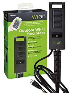 Wi Outdoor Wi Fi Yard Stake with 3 Outlets