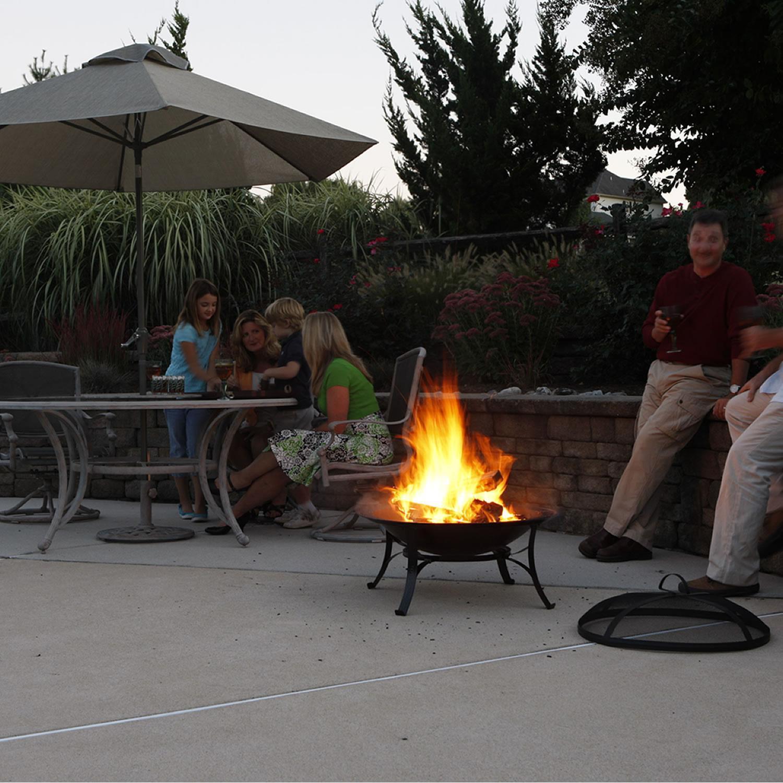 Cobraco 174 Steel Fire Pit With Scroll Legs 175254 Fire