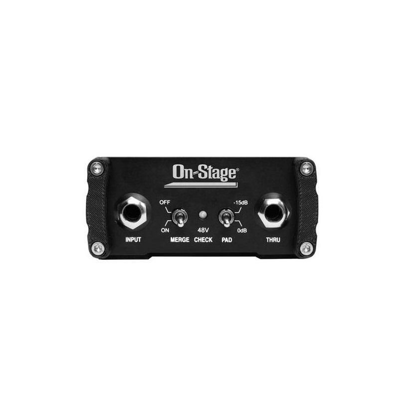 Amazon.com: On Stage DB1100 Active Direct Box with Stereo-to-Mono ...