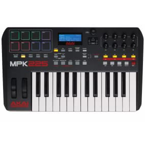 Akai Professional, MPK225, MPC, keyboard controller, performance pad