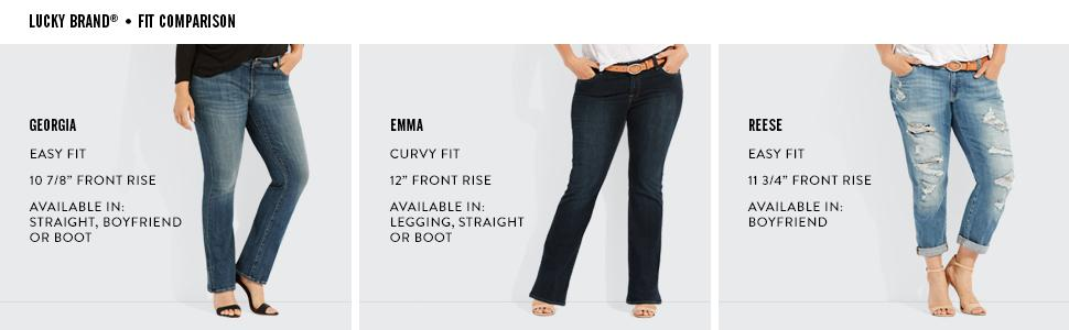 0bdaeab22e8 Lucky Brand Women s Plus Size Mid Rise Ginger Straight Jean in Palo ...