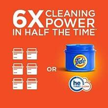 Tide Plus Downy April Fresh Liquid HE Turbo Clean Laundry Detergent; he technology