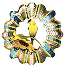 Iron Stop Goldfinch Wind Spinner