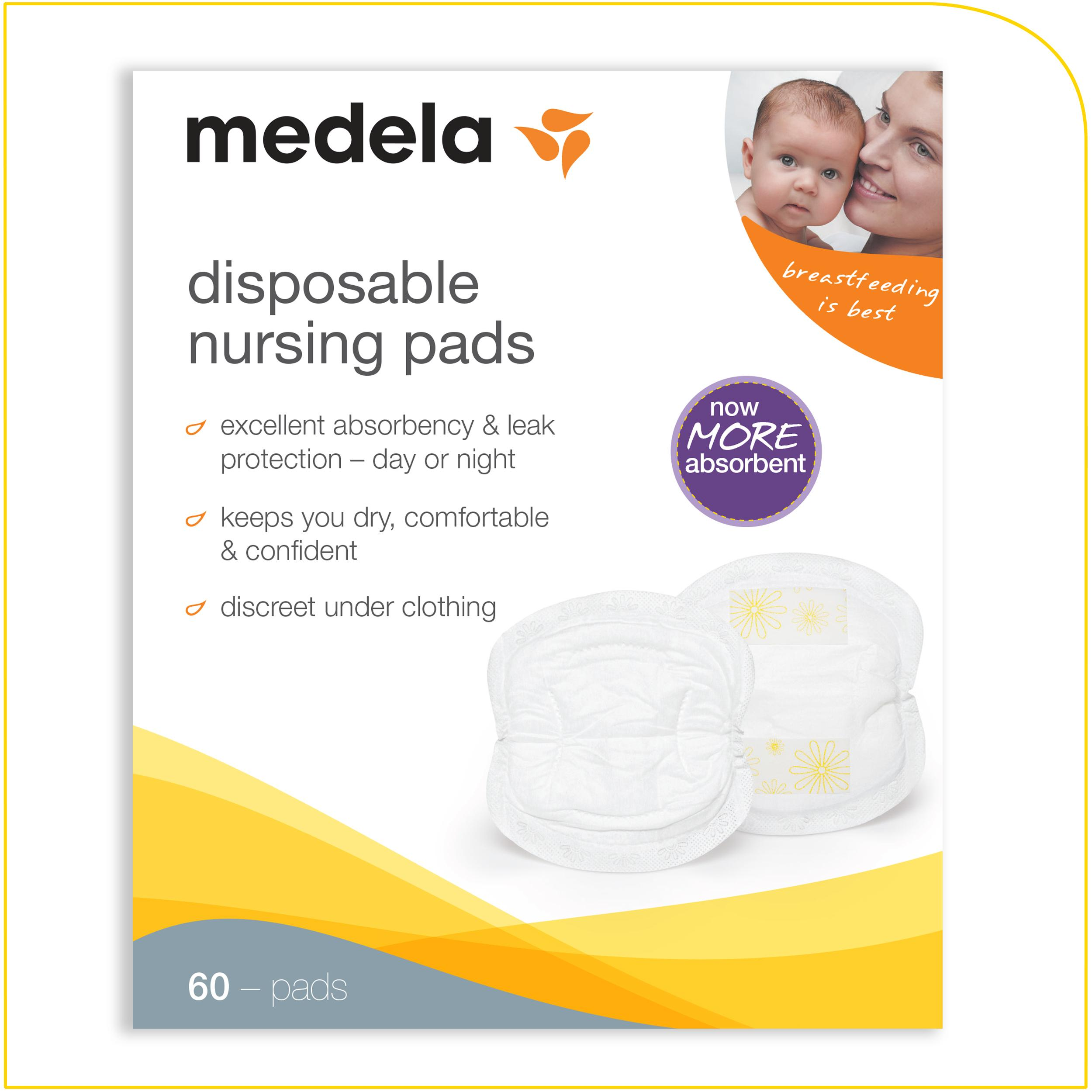 Amazon.com : Medela Disposable Nursing Bra Pads, 60 Count ...