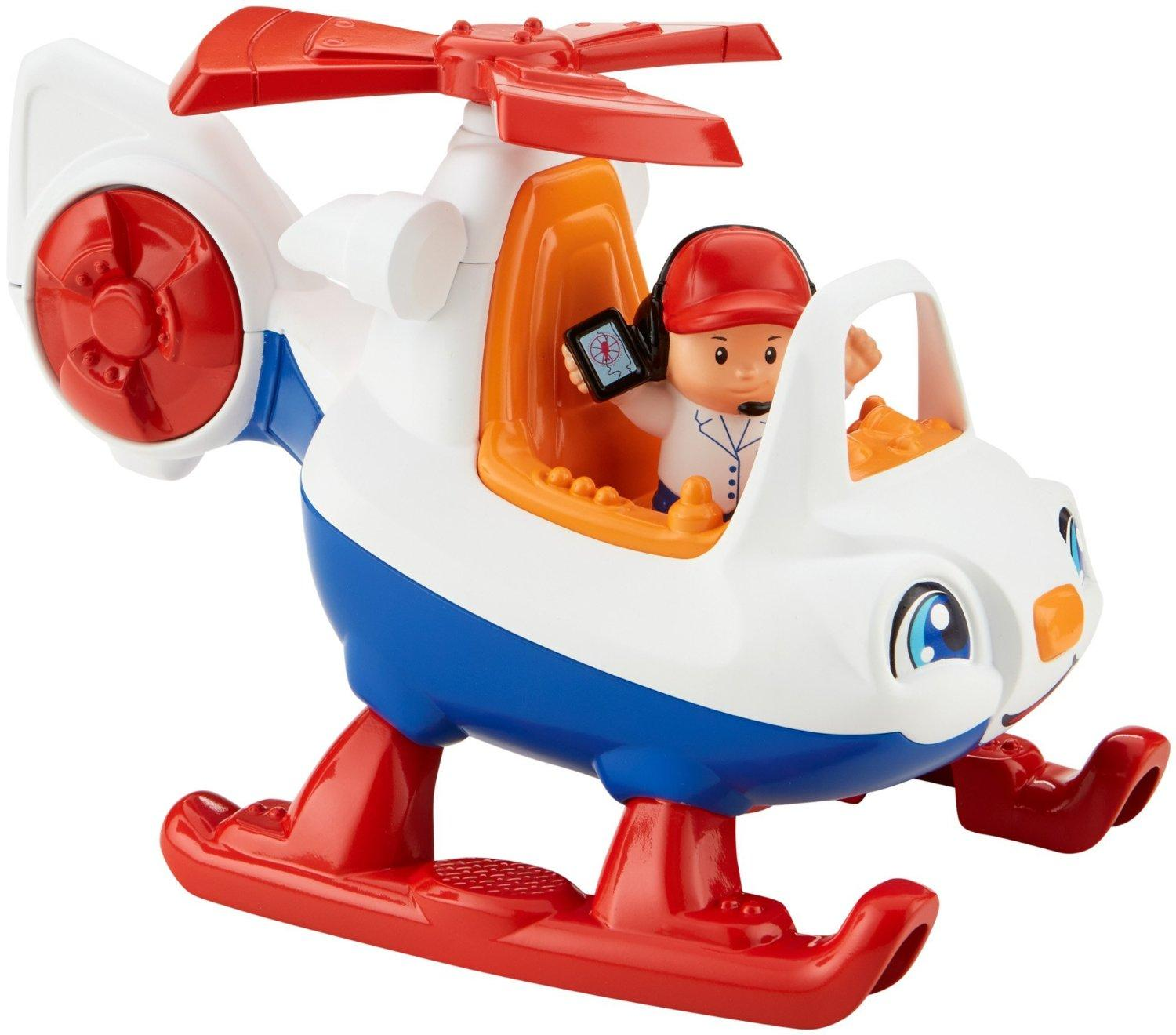 fisher price little people helicopter toys. Black Bedroom Furniture Sets. Home Design Ideas