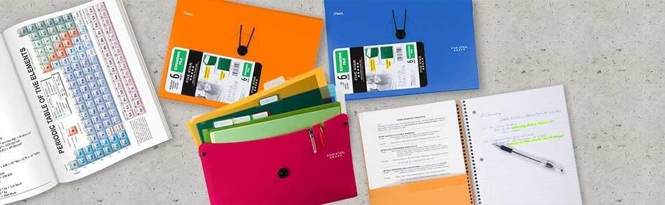Five Star, expanding file, file folder, 6-pocket expanding file, 6-pocket filer, student file