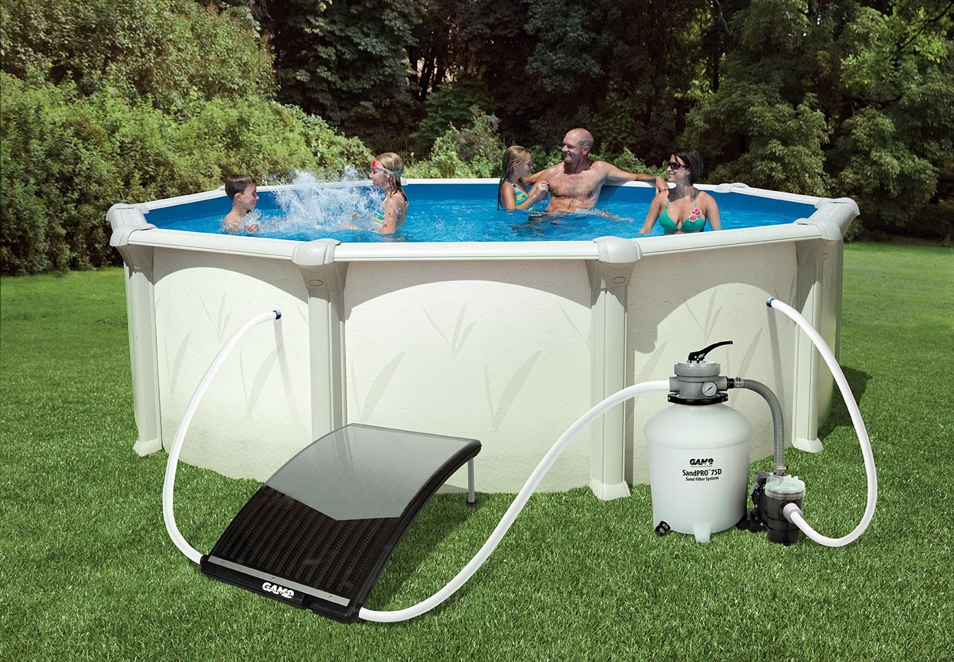 Game 4721 solarpro curve solar pool heater for Top of the line above ground pools