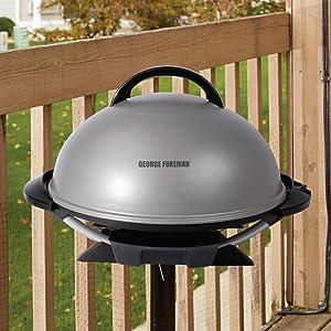 Amazon.com: George Foreman 15-Serving Indoor/Outdoor Electric ...