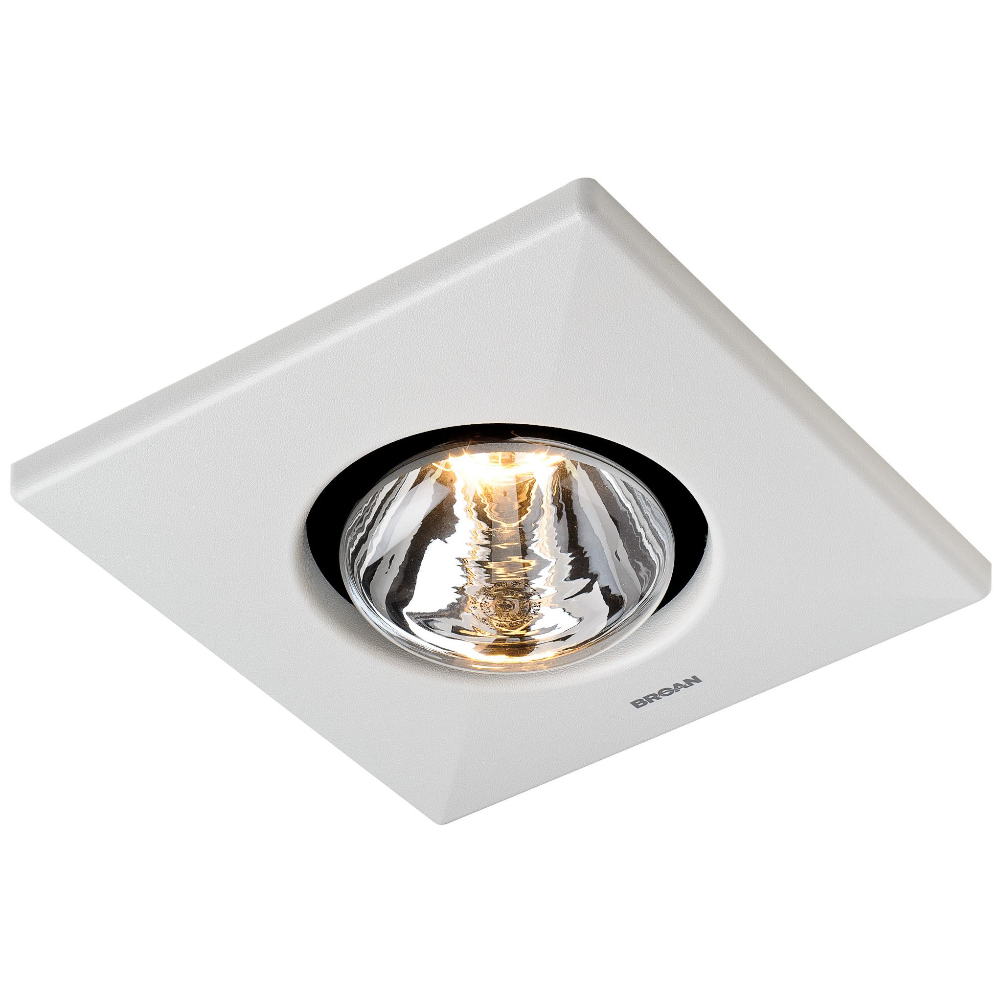 Broan 164 Type Ic Infrared Two Bulb Ceiling Heater With 4 Inch Round Duct Connector 250 Watt