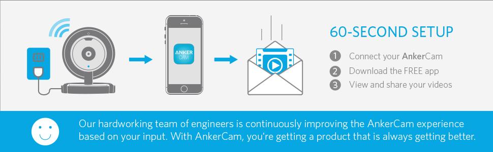 Amazon.com: ANKER AnkerCam Wi-Fi Wireless Camera Video ...